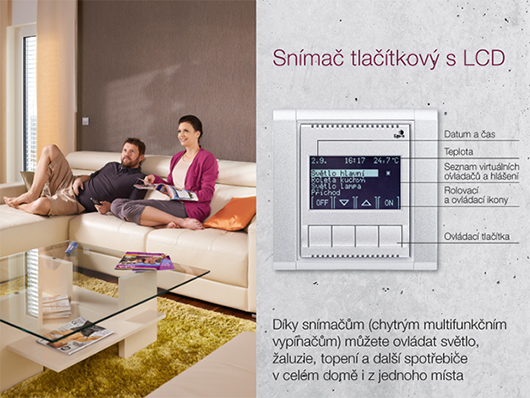 Ego-n chytry vypinac - tlacitkovy snimac s LCD