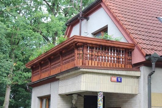 Dreveny balkon Vladeko